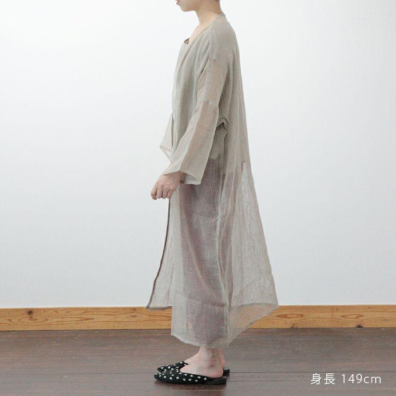 からみ織羽織り生成スタッフ着用149cm