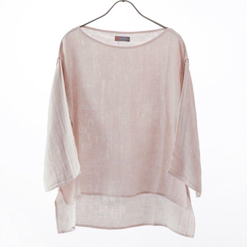 かやボートネックTシャツ桜