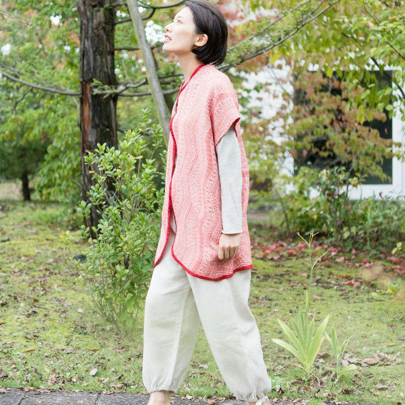 リネン浮織コート